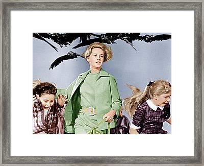 The Birds, Tippi Hedren Center, 1963 Framed Print by Everett