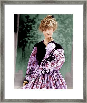 The Birth Of A Nation, Lillian Gish Framed Print by Everett