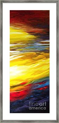 The Birth Of Colour Framed Print by Diane Daigle