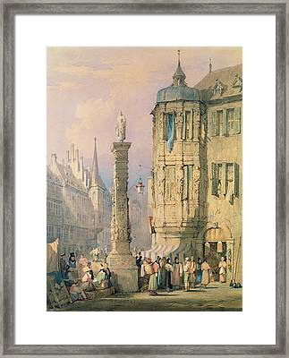The Bishop's Palace Wurzburg Framed Print by Samuel Prout