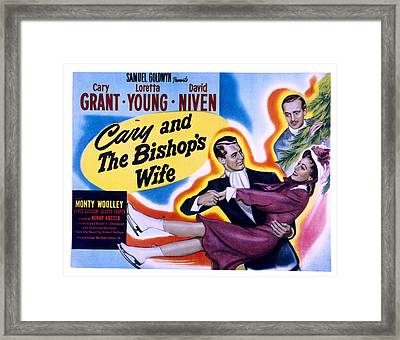 The Bishops Wife Cary Grant, Loretta Framed Print by Everett