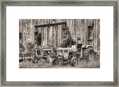 The Black And White Duetz Framed Print by JC Findley