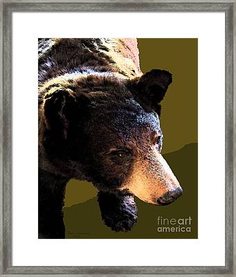 The Black Bear Framed Print by Tammy Ishmael - Eizman