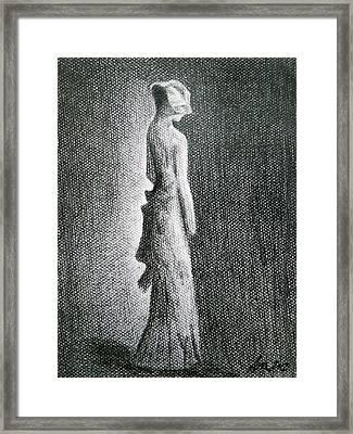 The Black Bow Framed Print