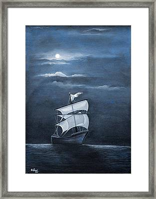 The Black Pearl Framed Print by Rajeev M Krishnan