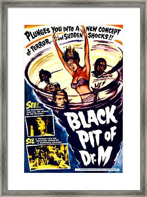 The Black Pit Of Dr. M, Aka Misterios Framed Print by Everett