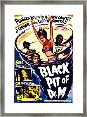 The Black Pit Of Dr. M, Aka Misterios Framed Print