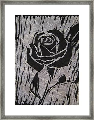 The Black Rose Framed Print by Marita McVeigh