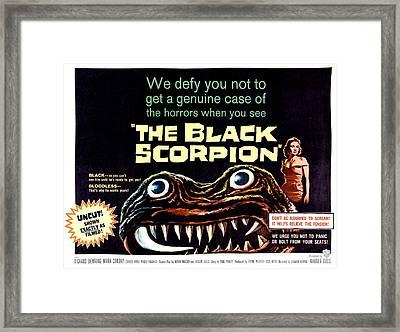 The Black Scorpion, On Right Mara Framed Print by Everett