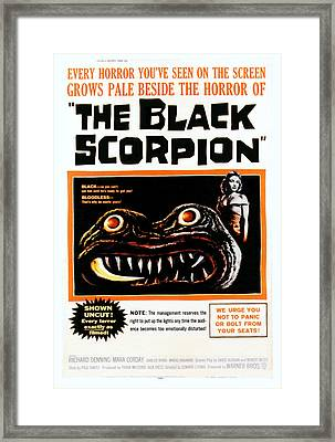 The Black Scorpion, Right Mara Corday Framed Print