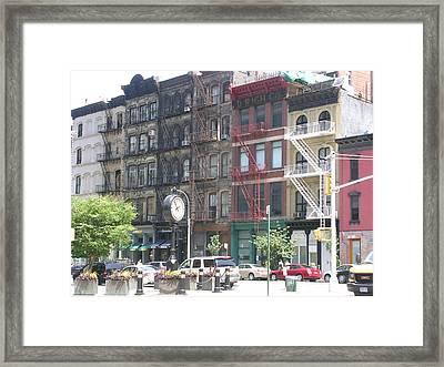 The Block Framed Print by Michael Howard