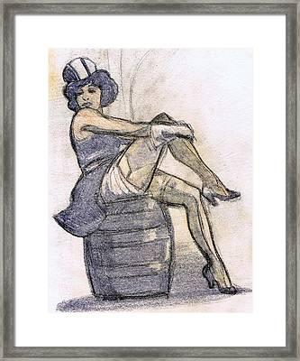 The Blue Angel Framed Print