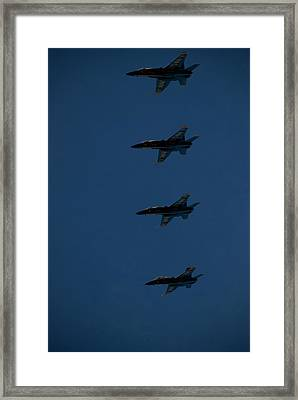 The Blue Angels Perform At The Great Framed Print by Heather Perry