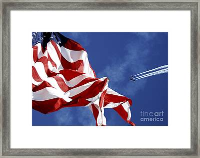 The Blue Angels Performing At An Air Framed Print