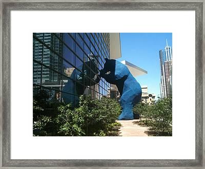 The Blue Bear Of Denver Colorado Framed Print