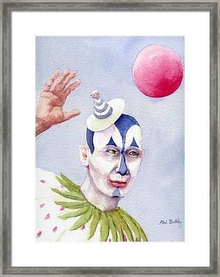 The Blue Clown Framed Print