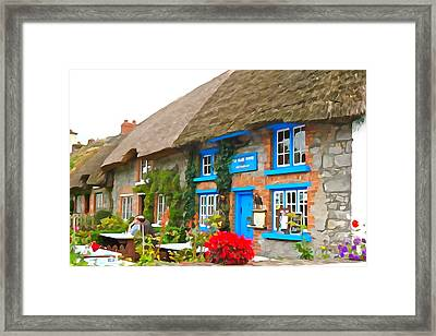 Framed Print featuring the photograph The Blue Door by Charlie and Norma Brock
