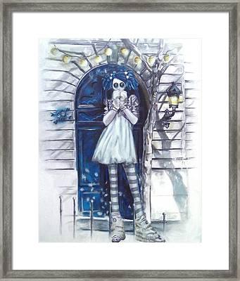 The Blue Door Framed Print by Lori Keilwitz