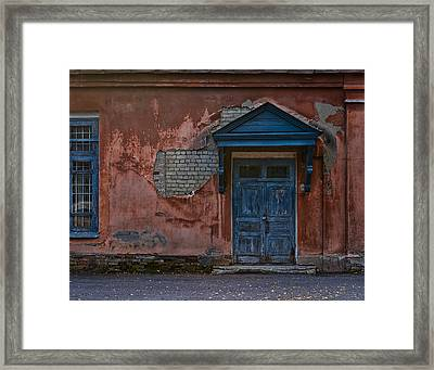 The Blue Door Framed Print