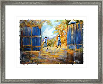 The Blue Gates Of Haiti Framed Print by Bob Salo