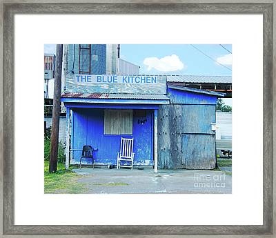The Blue Kitchen Framed Print