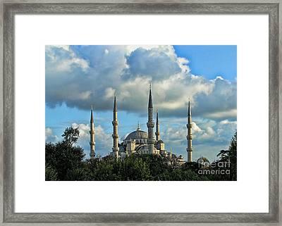The Blue Mosque Sultanahmet Camii  Framed Print by Alexandra Jordankova