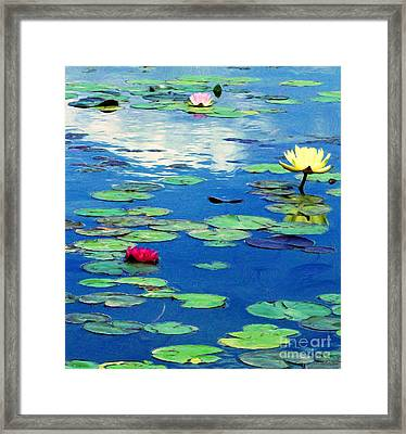 The Blue Pond  Framed Print