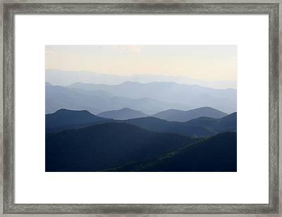 The Blue Ridge Framed Print by Paula Tohline Calhoun