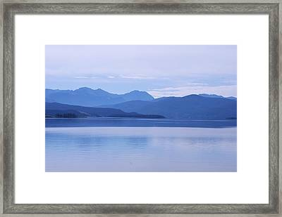 The Blue Shore Framed Print