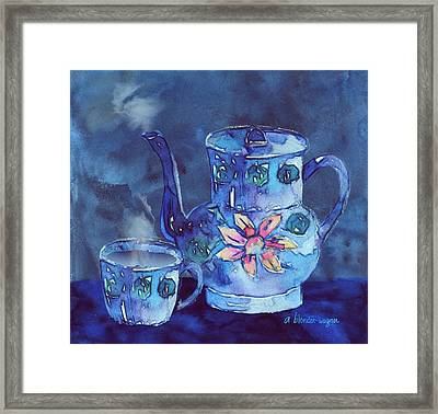 The Blue Teapot Framed Print by Arline Wagner