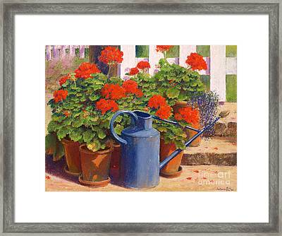 The Blue Watering Can Framed Print by Anthony Rule