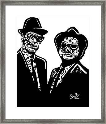 The Blues Brothers Framed Print by Kamoni Khem