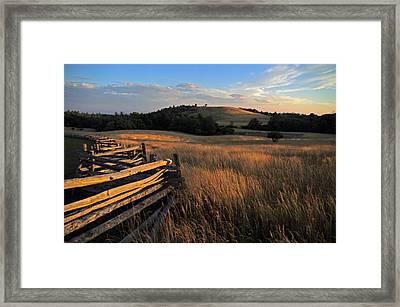 The Bluffs At Doughton Park Blue Ridge Parkway Framed Print by John Harmon