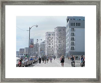 The Board Walk Framed Print by Laurence Oliver