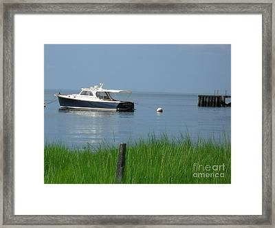 Framed Print featuring the photograph The Boat by Beth Saffer