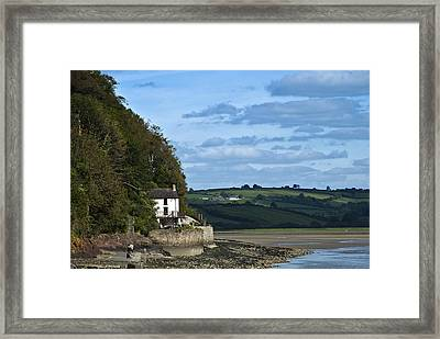 The Boathouse At Laugharne Landscape Framed Print by Steve Purnell