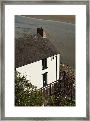 The Boathouse At Laugharne Framed Print by Steve Purnell