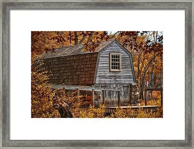 The Boathouse At The Manse Framed Print by Tricia Marchlik