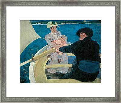 The Boating Party Framed Print by Mary Cassatt