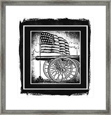 The Bombs Bursting In Air Bw Framed Print by Angelina Vick