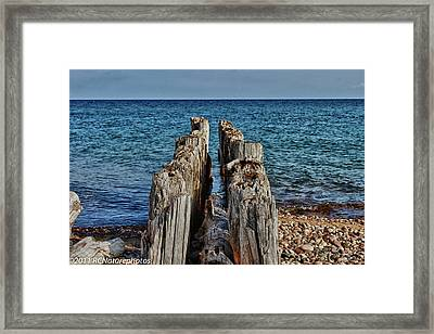Framed Print featuring the photograph The Bones Of Superior by Rachel Cohen
