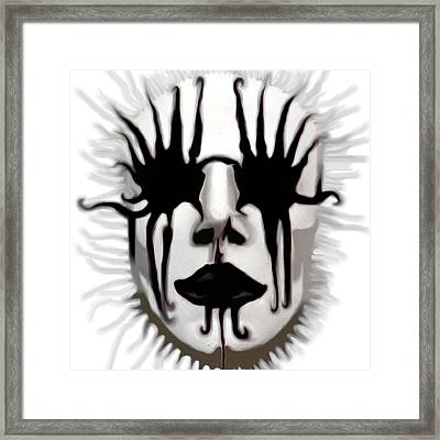 Framed Print featuring the painting The Boogeyman by Susan  Solak