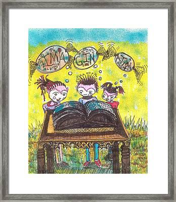 The Book Club Framed Print by Robert Wolverton Jr