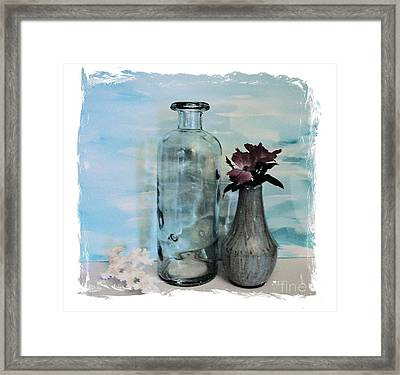 The Bottle Without The Message Framed Print by Marsha Heiken