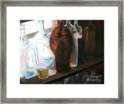 The Bottles  Framed Print