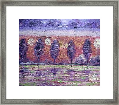 The Boulevard Framed Print