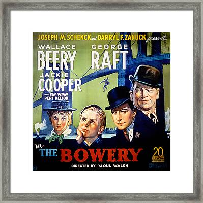 The Bowery, Fay Wray, Jackie Cooper Framed Print by Everett