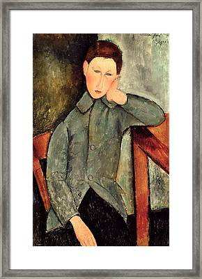 The Boy Framed Print by Amedeo Modigliani