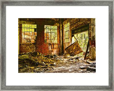 Framed Print featuring the photograph The Brick Room by Kimberleigh Ladd