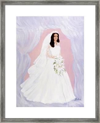 The Bride Framed Print by Anke Wheeler